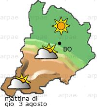 Previsioni Meteo A Bologna Servizio Idro Meteo Clima Arpaer